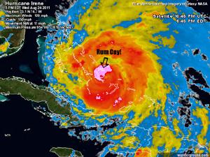 Rum Cay Hurricane imagery