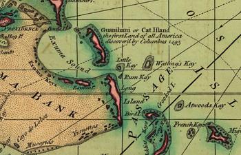 Rum Cay Bahamas Aerial Shot