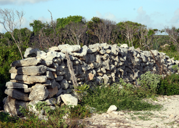 Rum Cay Plantation walls