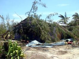 Rum Cay Hurricane Irene Damage