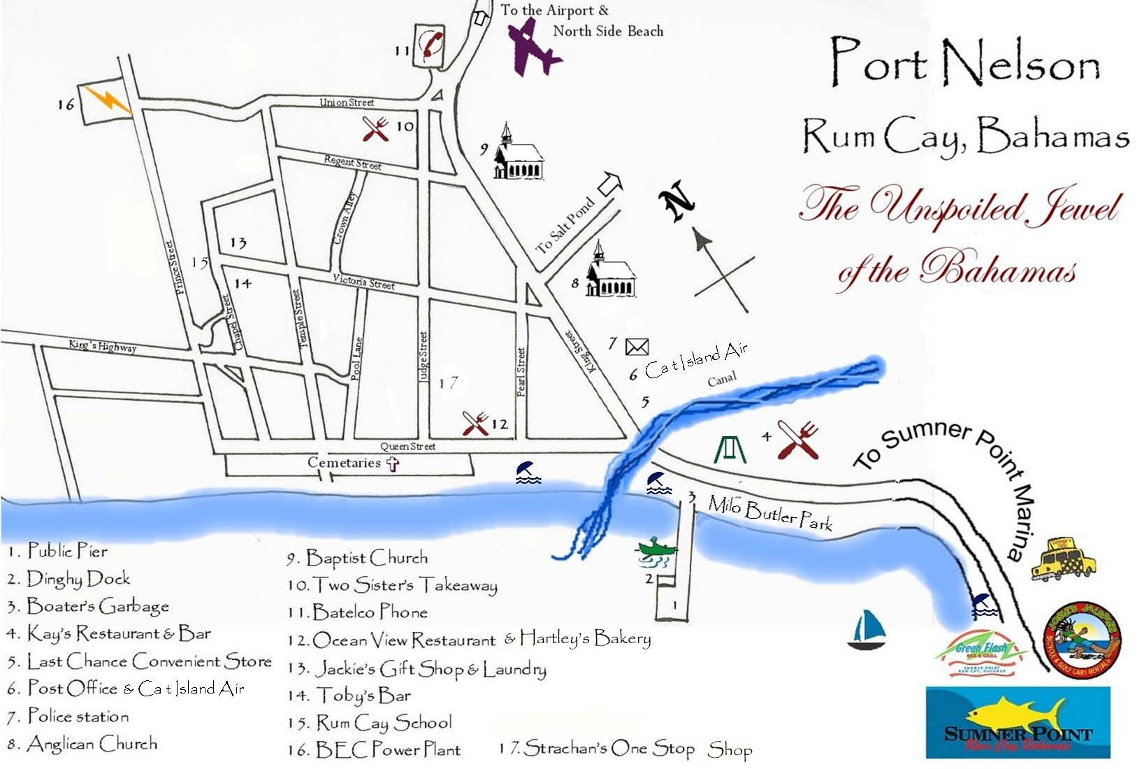 Rum Cay Road map